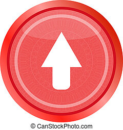 icon arrow - web button . Flat sign isolated on white background