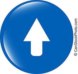 icon arrow - web button isolated on white background