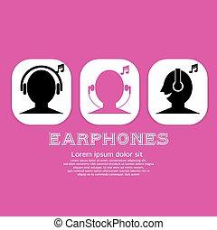 icon., audífonos