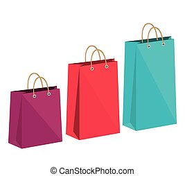 icon bag shop paper design