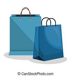 icon bag shop paper design