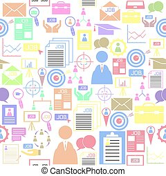 icon., bakgrund, jobb, seamless, mönster