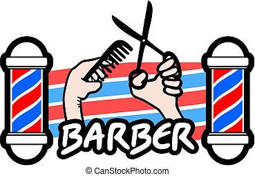 Creative design of icon barber