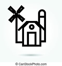 Icon Barn Farm Building Illustration Isolated Sign Symbol Thin Line For Web Modern