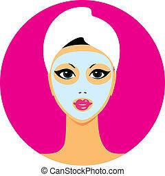icon-beauty-salon - icon of beauty salon