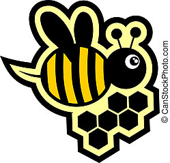 Icon bee - Creative design of icon bee