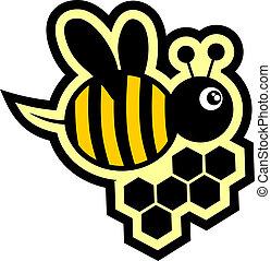 Icon bee - Creative design of icon bee