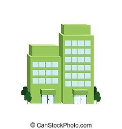 Icon big green building