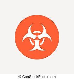 icon., biohazard , σήμα , σύμβολο. , κίνδυνοs