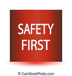 icon., biztonság első