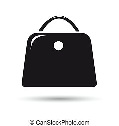 Icon black bag on a white background.