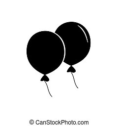 Icon black balloons on a white background