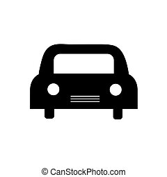Icon black car on a white background.
