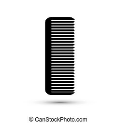 Icon black hairbrush on a white background.