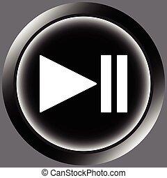 Icon black pause symbol