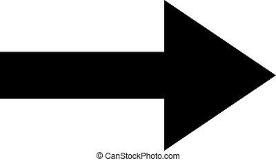 Icon black right arrow on a white background