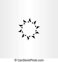 icon black star sign vector design