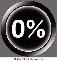 Icon black zero percent