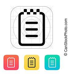 icon., bloc-notes