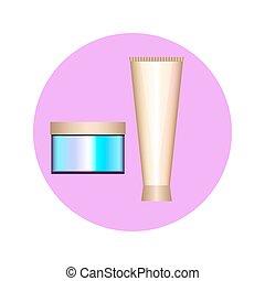 creams in circle