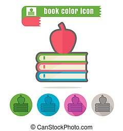 icon book color on white background