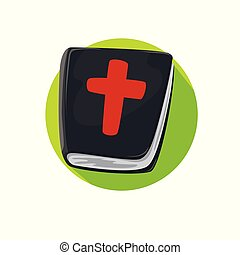 Icon Book of the Bible Flat style vector
