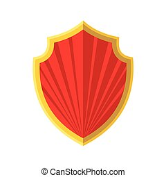 icon., bordure, bouclier, or, rouges