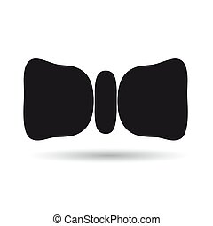 Icon bow black on white background. Vector illustration.