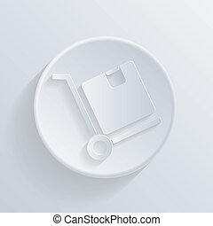 icon., box., lastbil, logistisk