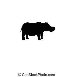 Icon bright hippo vector