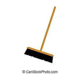icon broom