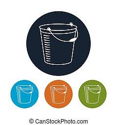 Icon bucket , vector illustration