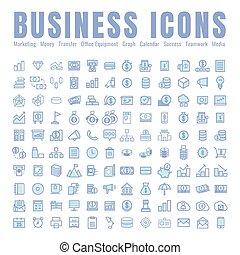 icon Business. Marketing Transfer Office Equipment Success Stories Media Team. on white background. web. Symbols. vectorillustration