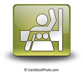 Icon, Button, Pictogram Mammography - Icon, Button,...