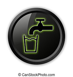Icon, Button, Pictogram Running Water