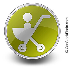 Icon, Button, Pictogram Stroller - Icon, Button, Pictogram...