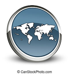 Icon, Button, Pictogram World Map - Icon, Button, Pictogram...