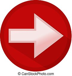 Icon button white arrow to the right in a red circle