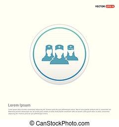 icon., -, círculo, grupo, usuário, botão, branca