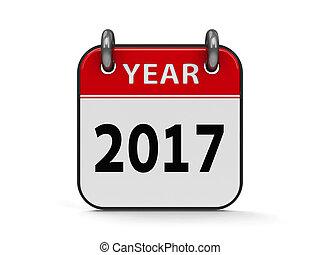 Icon calendar 2017 year #2