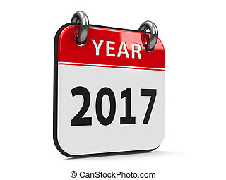 Icon calendar 2017 year