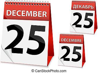 icon calendar Christmas