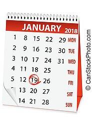 icon calendar Epiphany 2018 - icon in the form of a calendar...