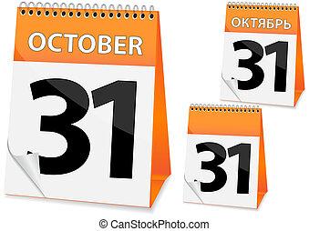 icon calendar for Halloween