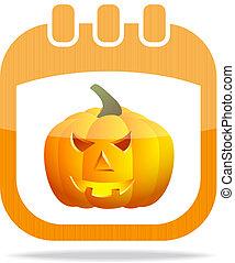 icon calendar Halloween