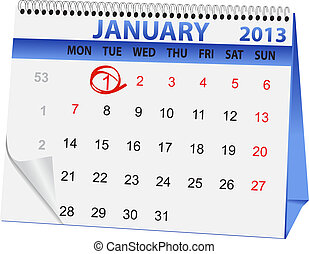icon calendar New Year