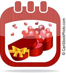 icon calendar Valentine's Day