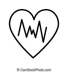 icon., cardio, logo, linie, überwachung, pictogram., modern, infographic