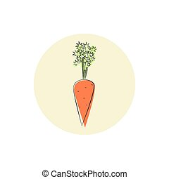 Icon carrot root vegetable , vector illustration