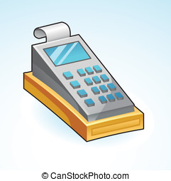icon cash register - vector illustration